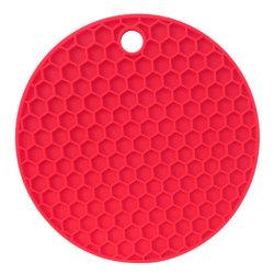 2-PACK Grytlapp i Silikon Anti-Slip Röd