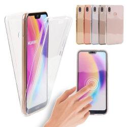 Crystal-Fodral med Touchsensorer (Dubbelt) Huawei P Smart 2019 Genomskinlig