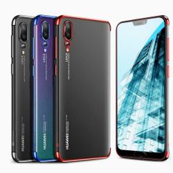 Effektfullt Skal av mjuk Silikon till Huawei P20 Pro Blå