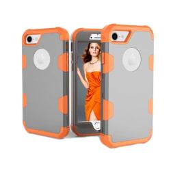 Elegant och Skyddande Hybridskal av LEMAN till iPhone 8 Grå/Orange