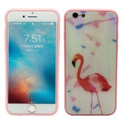 Elegant Skyddskal för iPhone 6/6S Plus (Härdat glas) Flamingo Flamingo