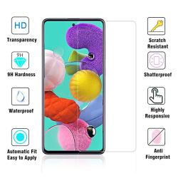 Galaxy A71 Skärmskydd Standard 9H 0,3mm HD-Clear