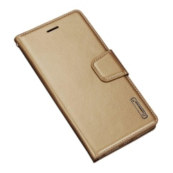 Hanman Plånboksfodral för Huawei P20 Guld