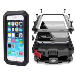HEAVY DUTY Shock Drop (Stryktålig) Aluminum för iPhone 7 Plus Svart