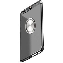Huawei Honor 9 - Praktiskt Skyddsskal med Ringhållare Silver