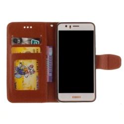 Huawei P8 Lite - Stilrent Plånboksfodral från NKOBEE Brun