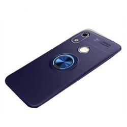 Huawei Y6 2019 - Praktiskt Skal med Ringhållare Blå/Blå