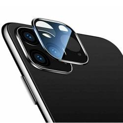 iPhone 11 Pro Kameralinsskydd i Härdat glas + Titanlegeringsram Svart