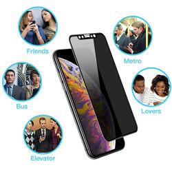 iPhone 11 Pro Max 2-PACK FullCover Anti-Spy Skärmskydd 9H
