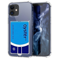 iPhone 12 Mini - Praktiskt Skal med Korthållare Transparent/Genomskinlig