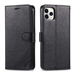 iPhone 12 Pro Max - Praktiskt Plånboksfodral Svart