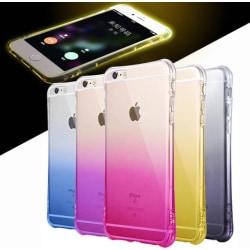 iPhone 6/6S PLUS- Elegant OMBRE silikonskal med extra tjock kant Röd