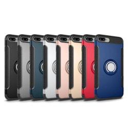 iPhone 6/6S PLUS - HYBRID Carbon skal med Ringhållare FLOVEME Blå
