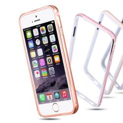 iPhone 6/6S Plus - Stilren Bumper i Aluminium och Silikon Rosa