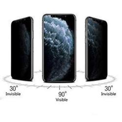 iPhone X/XS FullCover Anti-Spy Skärmskydd 9H