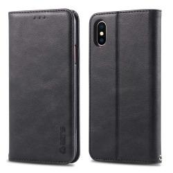 iPhone XR - Kraftfullt Skyddande Plånboksfodral Svart