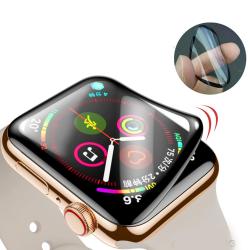 Mjukt Skyddande Apple Watch S4/S5 Skärmskydd Svart 44mm