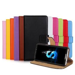 Plånboksfodral i Läder för Samsung Galaxy J7 (2017) av ROYBEN Orange