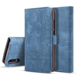 Plånboksfodral i Retrodesign från LEMAN till Huawei P20 Gråsvart