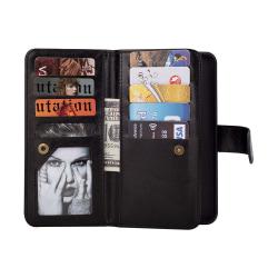 Praktiskt 9-Korts Plånboksfodral (FLOVEME) - Samsung Galaxy S10 Svart