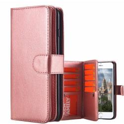 Praktiskt 9-korts Plånboksfodral för iPhone 7 PLUS från FLOVEME Brun
