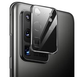 S20 Ultra Kameralinsskydd 9H Härdat glas + Titanlegeringsram Svart