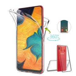 Samsung A20e   360° TPU Silikonfodral   Heltäckande Skydd Svart