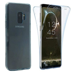 Samsung A6 Plus 2018 Dubbelsidigt silikonfodral TOUCHFUNKTION Transparent/Genomskinlig