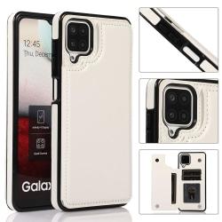 Samsung Galaxy A12 - Skal med Korthållare Vit