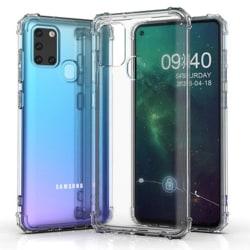 Samsung Galaxy A21S - Floveme Silikonskal Transparent/Genomskinlig