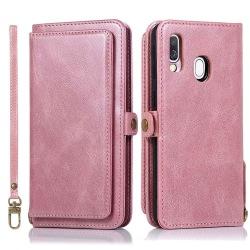 Samsung Galaxy A40 - Plånboksfodral Dubbelfunktion Röd