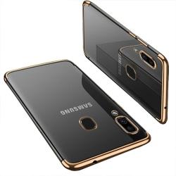 Samsung Galaxy A40 - Stötdämpande Kraftfullt Silikonskal Floveme Guld