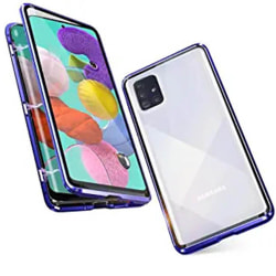 Samsung Galaxy A51 - Heltäckande Magnetiskt Skal Blå