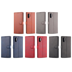 Samsung Galaxy Note10+ - Smidigt Plånboksfodral från Yazunshi Svart
