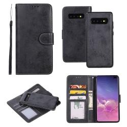 Samsung Galaxy S10 - Praktiskt Dubbelfunktion Plånboksfodral Svart