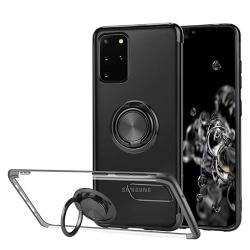 Samsung Galaxy S20 Plus - Silikonskal Ringhållare Silver