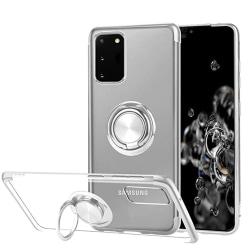 Samsung Galaxy S20 - Silikonskal med Ringhållare Svart