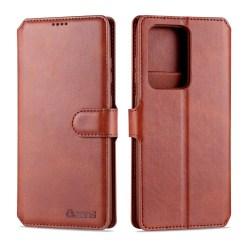 Samsung Galaxy S20 Ultra - AZNS Plånboksfodral Brown Brun