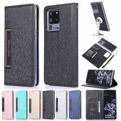 Samsung Galaxy S20 Ultra - Floveme Plånboksfodral Svart