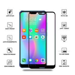 Skärmskydd 2.5D 10-PACK med Ram 9H HD-Clear Screen-Fit Honor 10