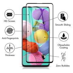 Skärmskydd 2.5D Ram 9H 0,3mm HD-Clear - Galaxy A71