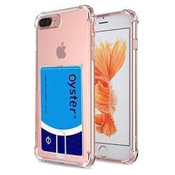 Skyddsskal med Korthållare - iPhone 8 Plus transparent