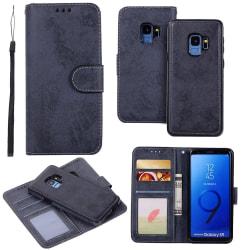 Smart Fodral med Dubbelfunktion till Samsung Galaxy S9 Marinblå