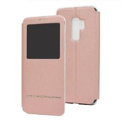 Smartfodral med fönster och svarsfunktion - Samsung Galaxy A8 Roséguld