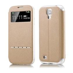 Smartfodral med fönster och svarsfunktion till Galaxy S4 MINI Svart