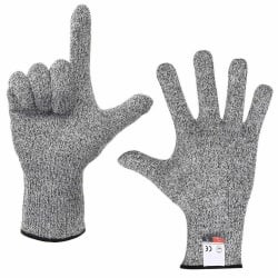 1 Pair Level 5 Cut Proof Stab Butcher Resistant Gloves Safety Me