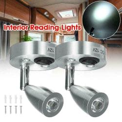 2st 12V LED Spot Läslampa Strömställare Husbil Caravan Lights