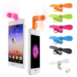 3 In 1 And 2 In 1 Travel Portable Phone Mini Fan For Micro Iphon