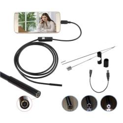 5,5 / 7 mm endoskopskamera Flexibel IP67 vattentät inspektion Bor