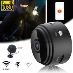 A9 Mini HD 1080 kamera Trådlös Wifi IP DVR Night Vision black